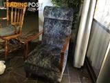 Antique chairs English platform rocker