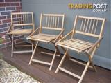 Period style timber outdoor folding chairs