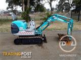 KOBELCO SK007 TIGHT ACCESS MINI EXCAVATOR BACKHOE BOBCAT CASE