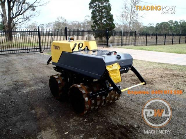 2014 DYNAPAC LP8504 TRENCH PAD FOOT COMPACTOR DUAL DRUM ROLLER