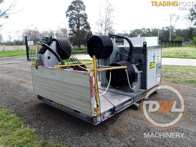 OZZY CRANES 2X BULL WINCH TENSIONING UNIT CABLE REDMOND GARY