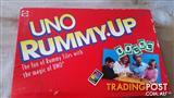 UNO RUMMY UP Board Game Mattel 1993 (COMPLETE) 100 Tiles