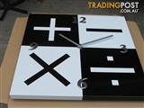 Mathematical WALL CLOCK - 39.5cm Quartz- not plastic as in pictures